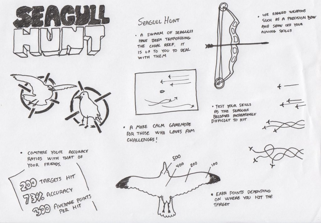Design page for the 'Seagull Hunt' mode.