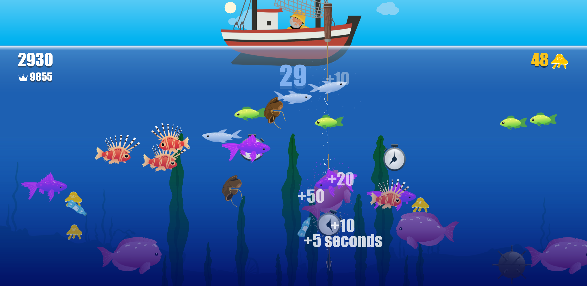 Harpoon FRVR – A mobile fishing game
